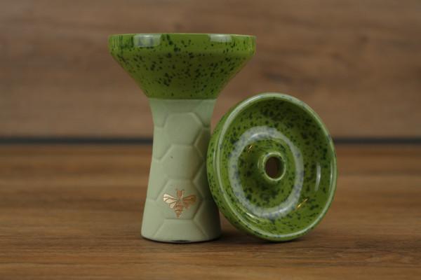 Bee Hookah Phunnel Olive - Half Glazed Light Green Green