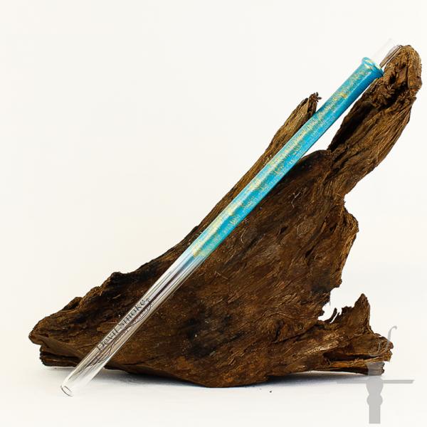 Devil Smoke Glas Mundstück Antik Line Blau-Gold